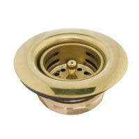 Gourmet Scape K461BPB Tacoma Kitchen Sink Duo Basket Strainer, Polished Brass