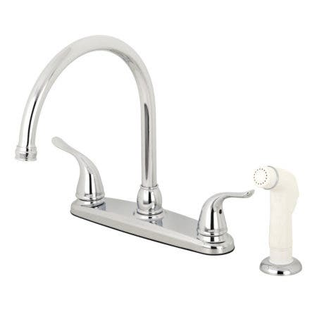 Kingston Brass KB791YL Yosemite 8-Inch Centerset Kitchen Faucet with Sprayer, Polished Chrome