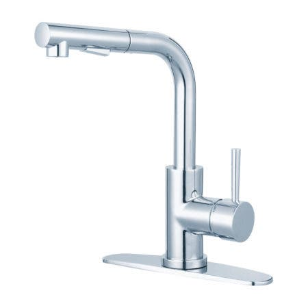 Gourmetier LS2711DL Concord Single-Handle Kitchen Faucet with Pull-Out Sprayer