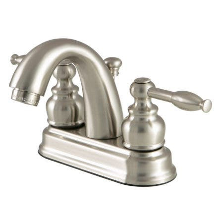 Kingston Brass FB5618KL 4 in. Centerset Bathroom Faucet, Brushed Nickel