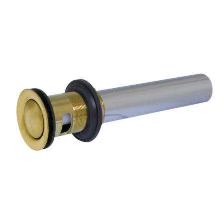 Kingston Brass KB8107 Push Pop-Up Drain with Overflow, Brushed Brass