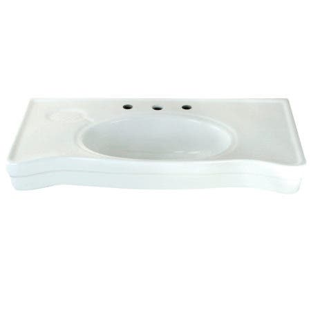 Kingston Brass VPB1368B Imperial Ceramic Console Sink Basin, White