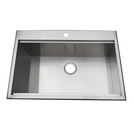 Gourmetier BGKTS3222101BN 32-Inch Drop-In Single Bowl 18-Gauge Kitchen Sink (1 Hole), Brushed