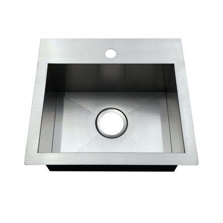 Gourmetier GKDS191781 19-Inch Single Bowl Dual Mount Drop-In or Undermount Bar Sink, Brushed