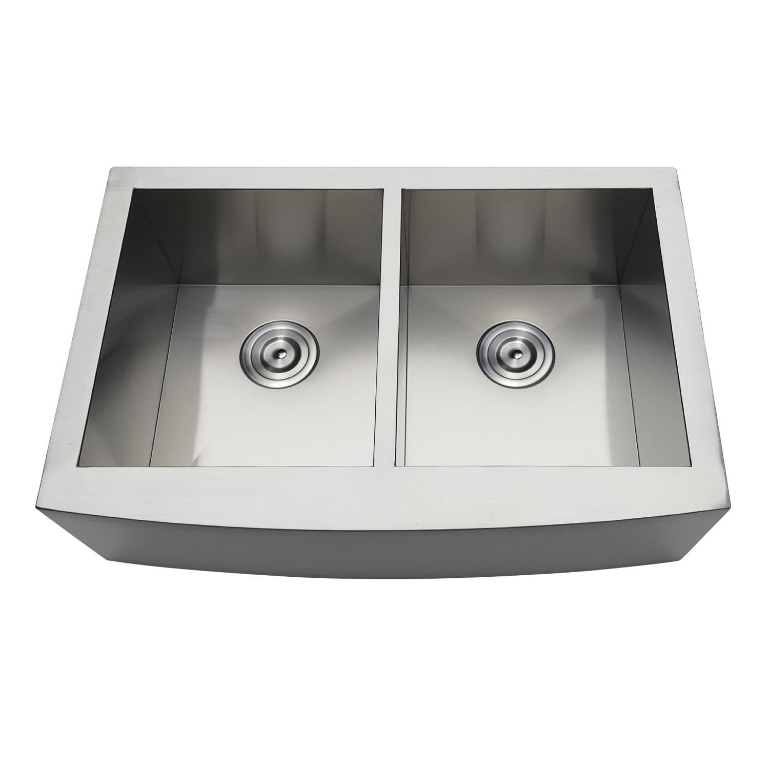 Gourmetier GKTDF30209 Drop-In Stainless Steel Double Bowl Farmhouse Kitchen  Sink