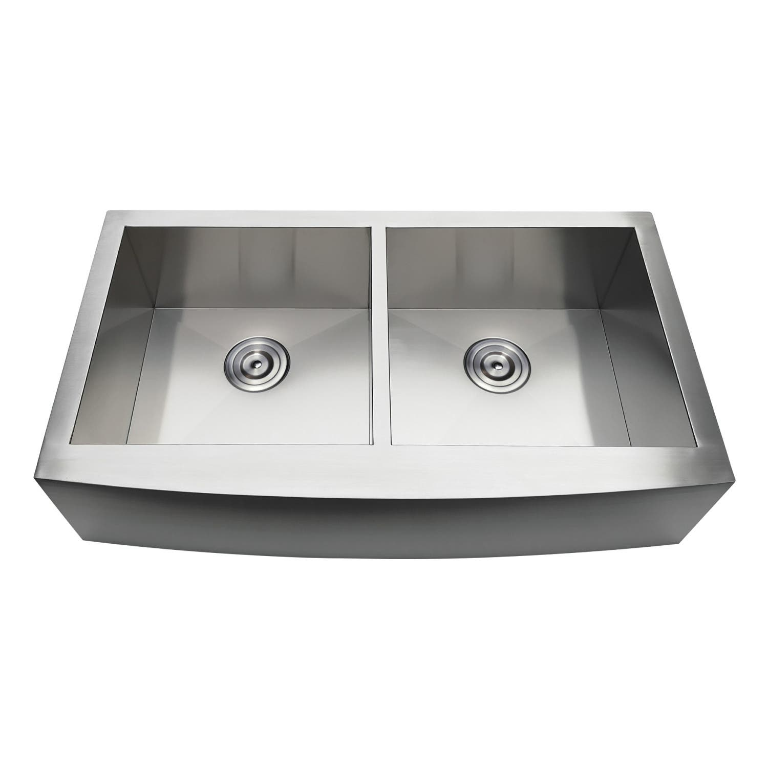 Gourmetier GKTDF36209 Drop-In Stainless Steel Double Bowl Farmhouse Kitchen  Sink