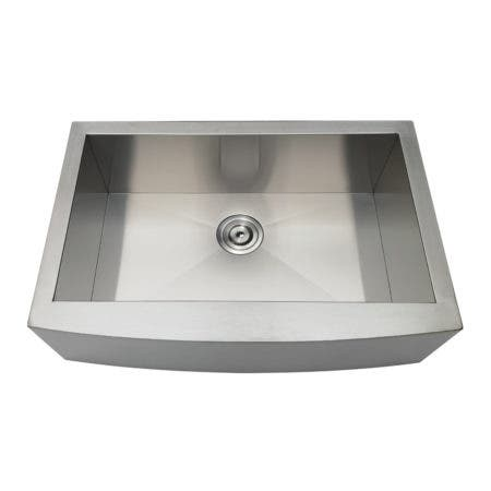Gourmetier GKTSF30209 Uptowne Drop-In Stainless Steel Single Bowl Farmhouse Kitchen Sink, Brushed