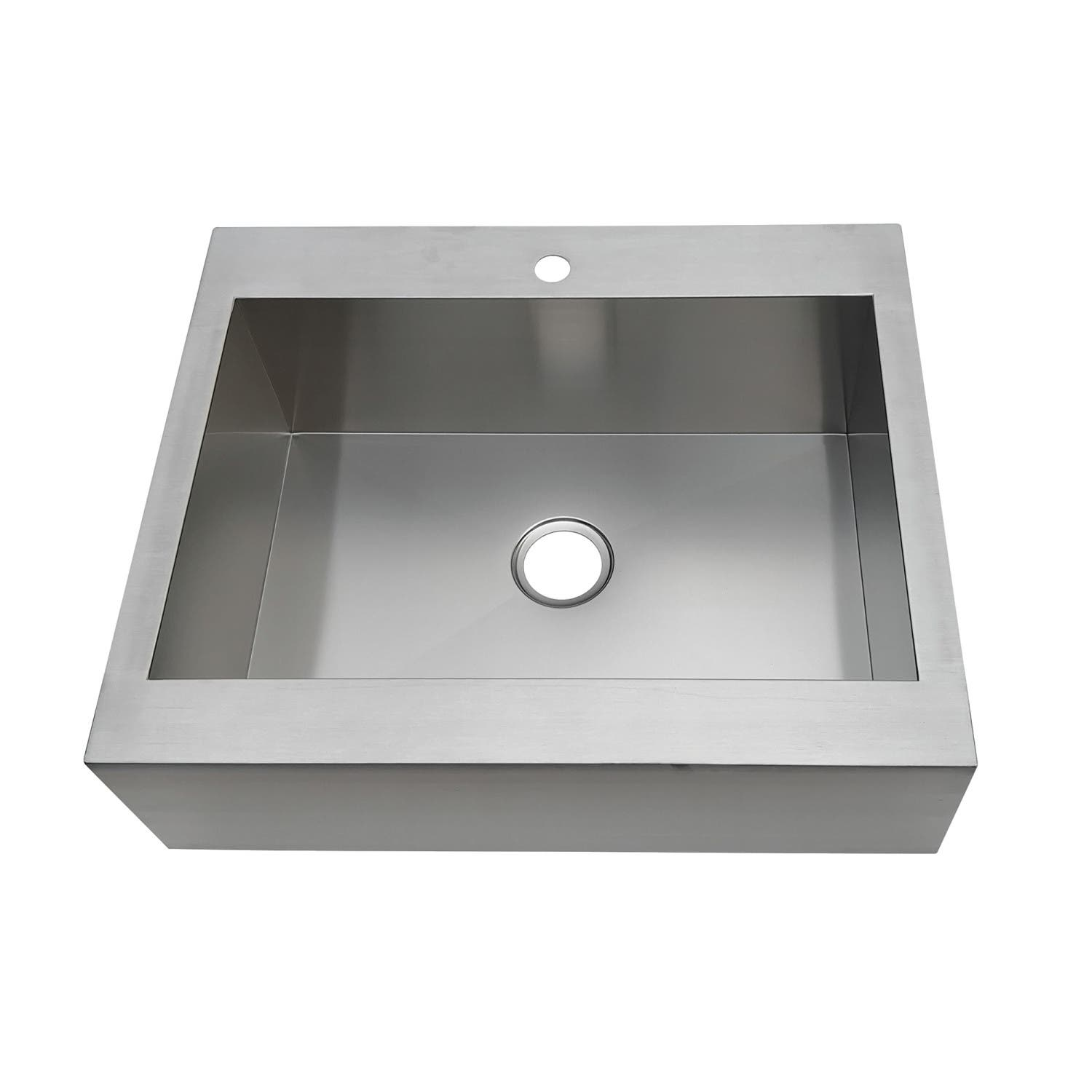 Gourmetier GKTSF302491 Edinburg Drop-In 30 Inch Single Bowl Kitchen Sink
