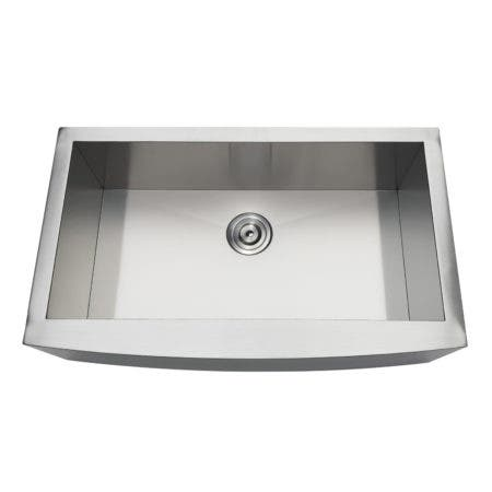 Gourmetier GKTSF33209 Uptowne Drop-In Stainless Steel Single Bowl Farmhouse Kitchen Sink, Brushed