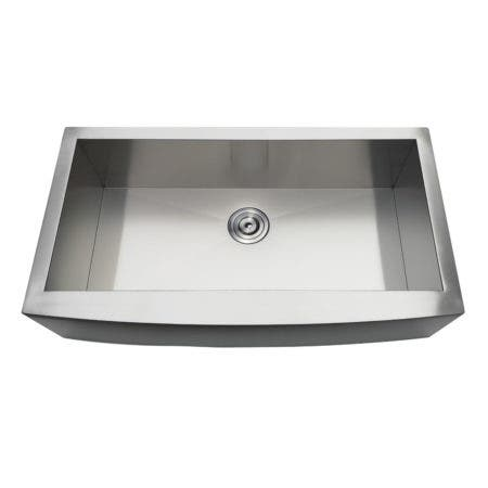 Gourmetier GKTSF36209 Uptowne Drop-In Stainless Steel Single Bowl Farmhouse Kitchen Sink, Brushed