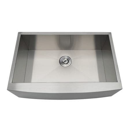 Gourmetier GKUSF30209 Uptowne Undermount Stainless Steel Single Bowl Farmhouse Kitchen Sink, Brushed