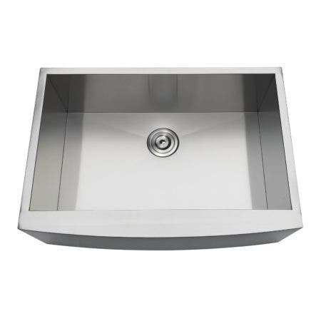 Gourmetier GKUSF302110 Uptowne Undermount Stainless Steel Single Bowl Farmhouse Kitchen Sink, Brushed