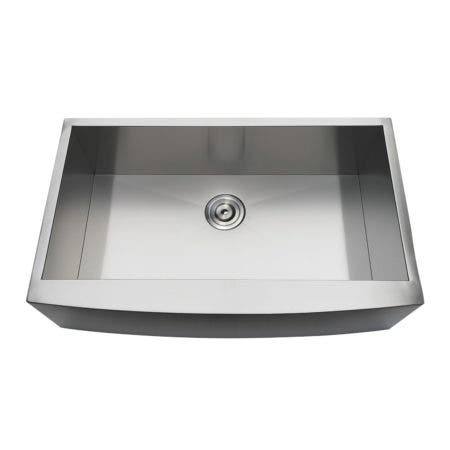 Gourmetier GKUSF33209 Uptowne Undermount Stainless Steel Single Bowl Farmhouse Kitchen Sink, Brushed