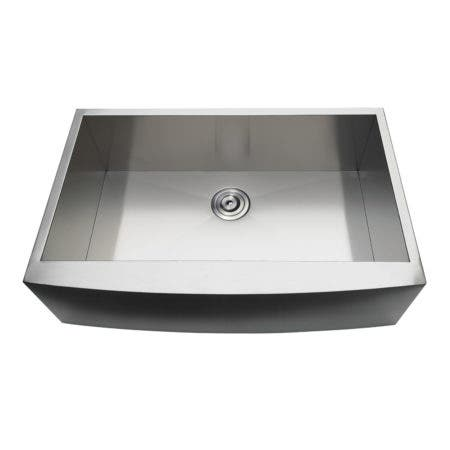 Gourmetier GKUSF332110 Uptowne Undermount Stainless Steel Single Bowl Farmhouse Kitchen Sink, Brushed