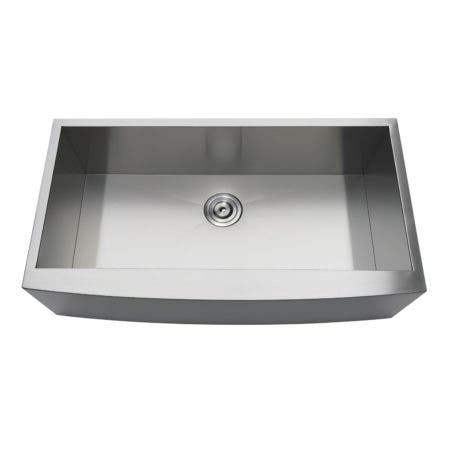 Gourmetier GKUSF36209 Uptowne Undermount Stainless Steel Single Bowl Farmhouse Kitchen Sink, Brushed