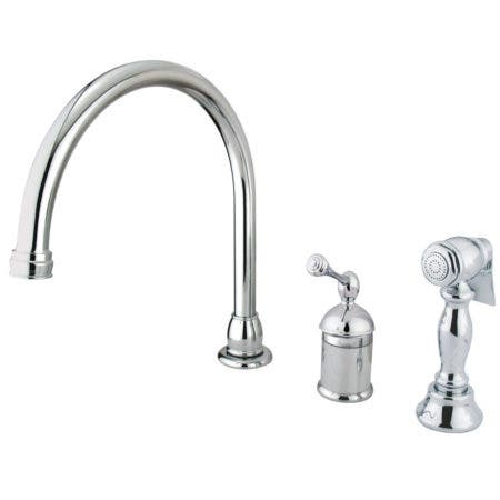 Kingston Brass KB3811BLBS Single-Handle Kitchen Faucet, Polished Chrome