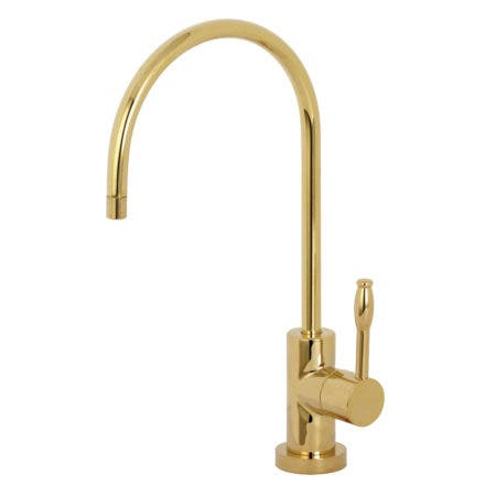 Kingston Brass KS8192NKL Nustudio Single-Handle Cold Water Filtration Faucet, Polished Brass