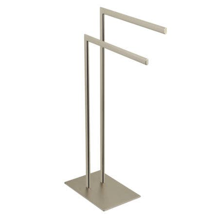 Kingston Brass SCC3098 Edenscape Pedestal Dual Towel Rack, Brushed Nickel