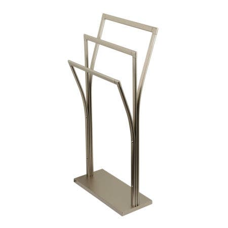 Kingston Brass SCC3308 Edenscape Pedestal Y-Style Towel Rack, Brushed Nickel