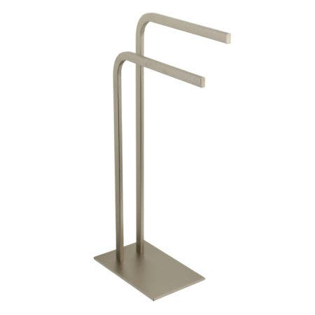 Kingston Brass SCC8008 Edenscape Pedestal Dual Towel Rack, Brushed Nickel