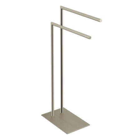 Kingston Brass SCC8328 Edenscape Pedestal Dual Towel Rack, Brushed Nickel