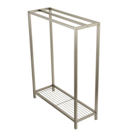 Kingston Brass SCC8358 Edenscape Freestanding Iron Towel Rack, Brushed Nickel
