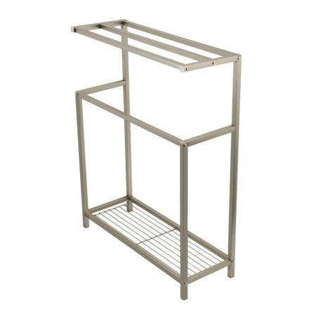 Kingston Brass SCC8368 Edenscape Freestanding Iron Towel Rack, Brushed Nickel