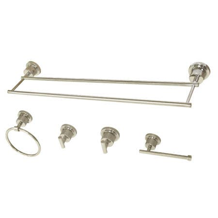Kingston Brass BAH821330478PN Concord 5-Piece Bathroom Accessory Set, Polished Nickel