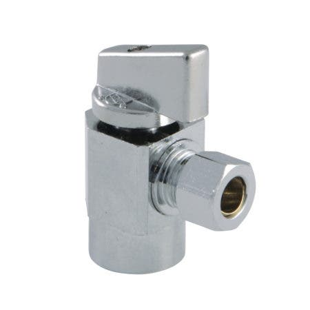 Kingston Brass KF43101CTL Columbia 1/4 Turn Angle Stop Valve, Polished Chrome