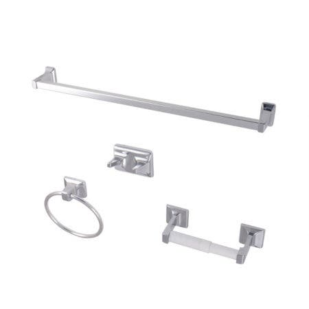 Kingston Brass BA0104C 4-Piece Bathroom Accessory Set, Polished Chrome