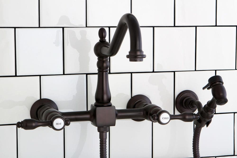KS1245PKXBS Oil Rubbed Bronze Wall Mount Kitchen Faucet