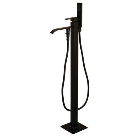 Kingston Brass KS4135QLL Freestanding Roman Tub Filler With Hand Shower, Oil Rubbed Bronze