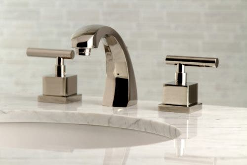 KS4986CQL 8-Inch Widespread Lavatory Faucet with Brass Pop-Up, Polished Nickel