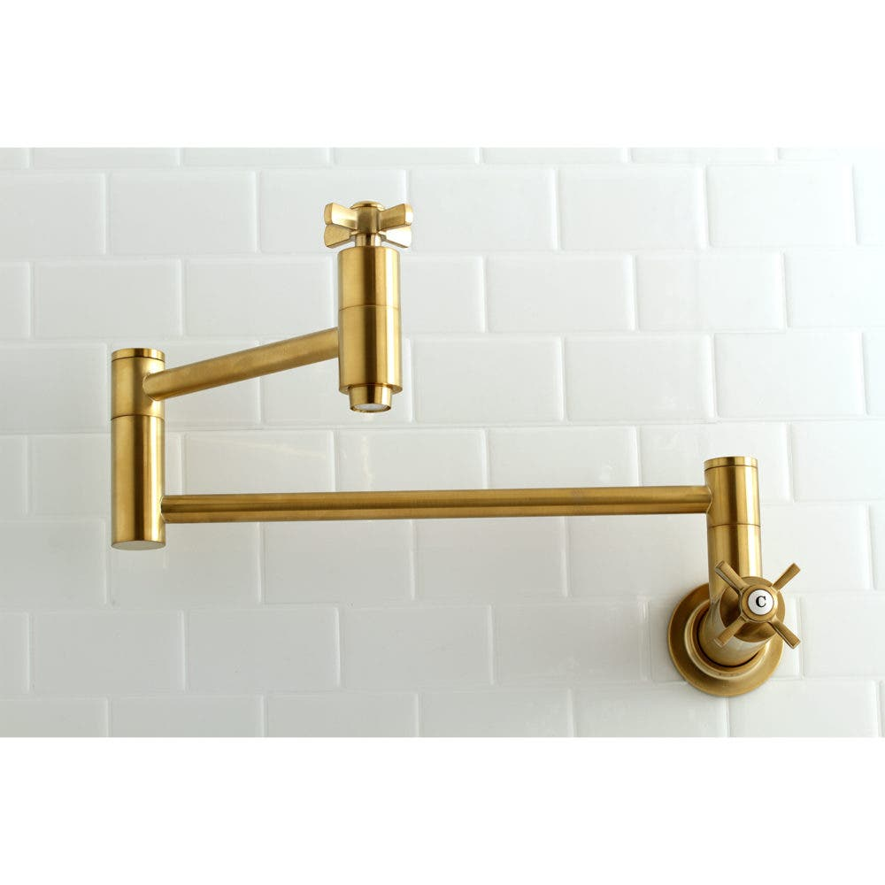 KS8107ZX Satin Brass Pot Filler Faucet