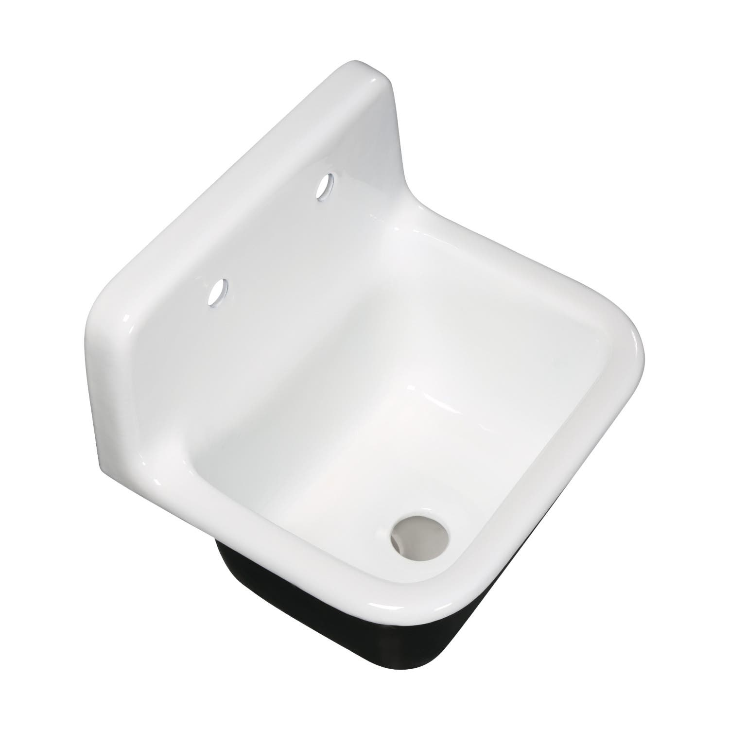 Fauceture GCKWS221822 Petra Galley 22 Inch Wall Mount Single Bowl Kitchen  Sink, White