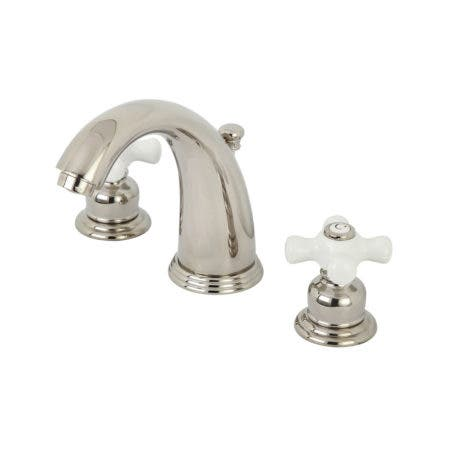 Kingston Brass KB986PXPN Victorian 2-Handle 8 in. Widespread Bathroom Faucet, Polished Nickel