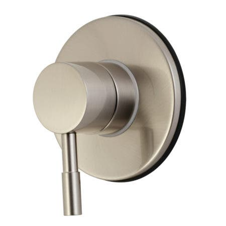 Kingston Brass KS3038DL Concord Single-Handle Three-Way Diverter Valve with Trim Kit, Brushed Nickel