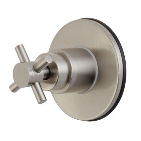 Kingston Brass KS3038DX Concord Single-Handle Three-Way Diverter Valve with Trim Kit, Brushed Nickel