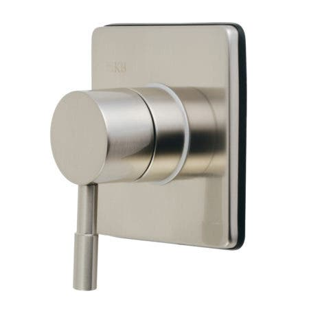 Kingston Brass KS3048DL Concord Single-Handle Three-Way Diverter Valve with Trim Kit, Brushed Nickel