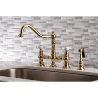 Polished Brass Bridge Kitchen Faucet KS3272PXBS