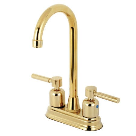 Kingston Brass KB8492DL Concord Bar Faucet, Polished Brass