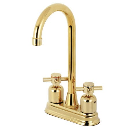 Kingston Brass KB8492DX Concord Bar Faucet, Polished Brass