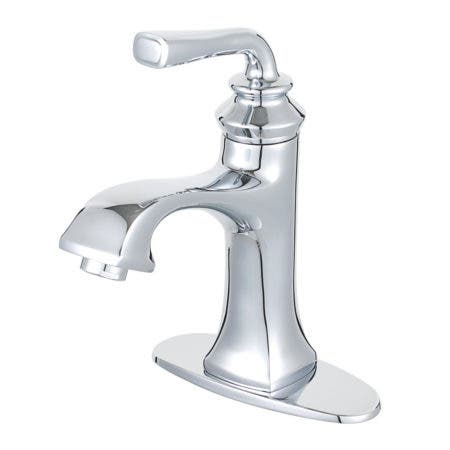 Fauceture LS4421RXL Restoration Single-Handle Bathroom Faucet with Push-Up Drain and Deck Plate, Polished Chrome