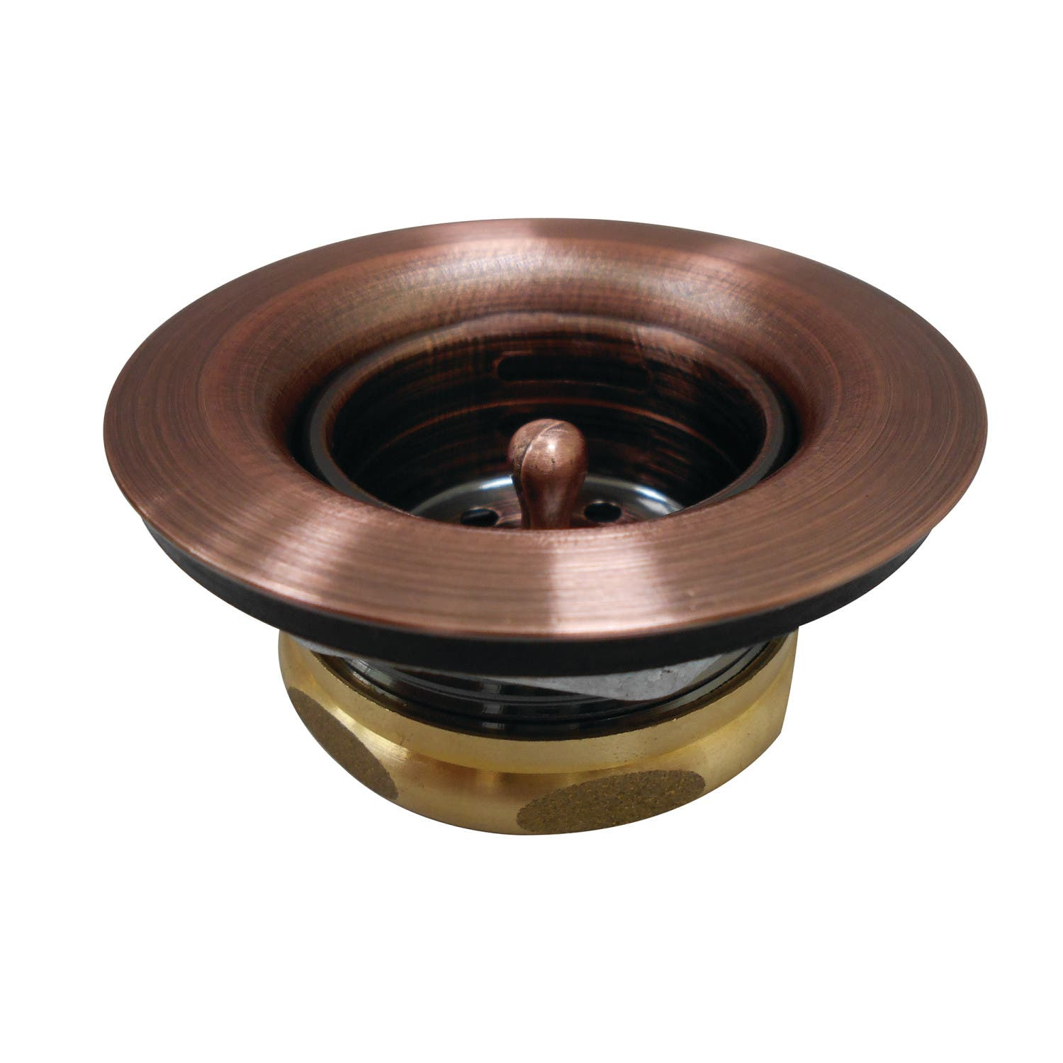 Kingston Brass K461BAC Tacoma Stainless Steel Bar Sink Duo Basket Strainer, Antique Copper