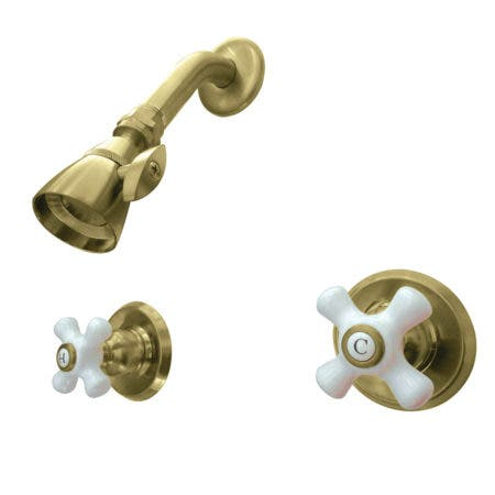 Kingston Brass KB247PXSO Victorian Tub & Shower Faucet, Shower Only, Brushed Brass