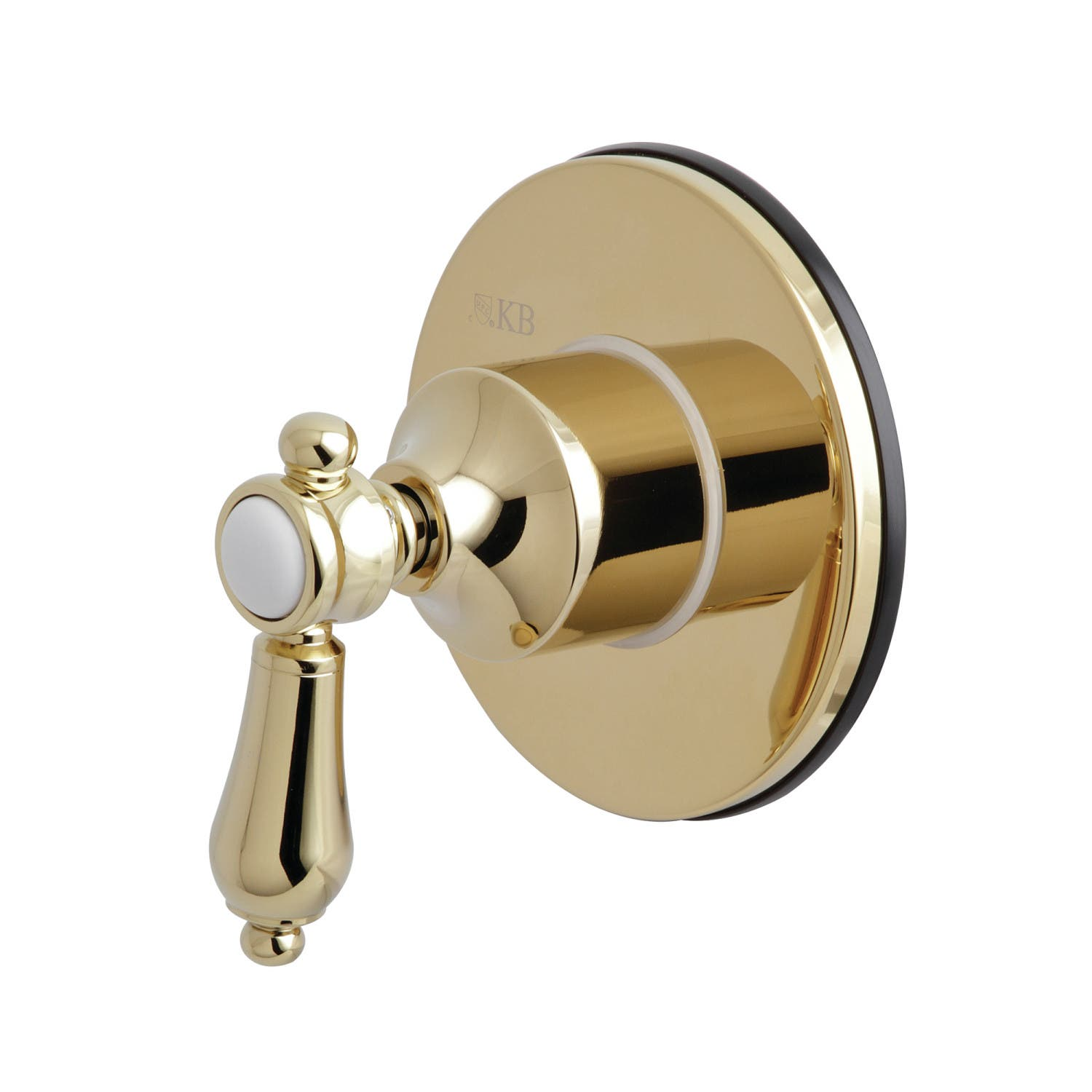 Kingston Brass KS3032BAL Three-Way Diverter Valve with Single-Handle and Round Plate, Polished Brass