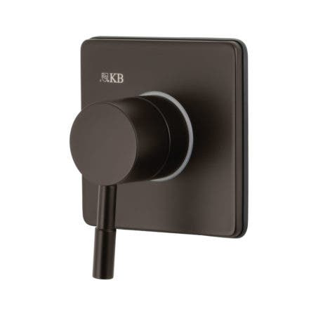 Kingston Brass KS3045DL Concord Single-Handle Three-Way Diverter Valve with Trim Kit, Oil Rubbed Bronze