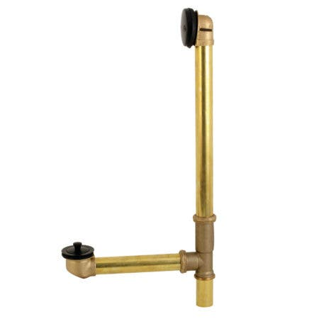 Kingston Brass DLL3180MB Made to Match 16-Inch Tub Waste Drain and Overflow with Lift & Lock Drain, 20 Gauge, Matte Black