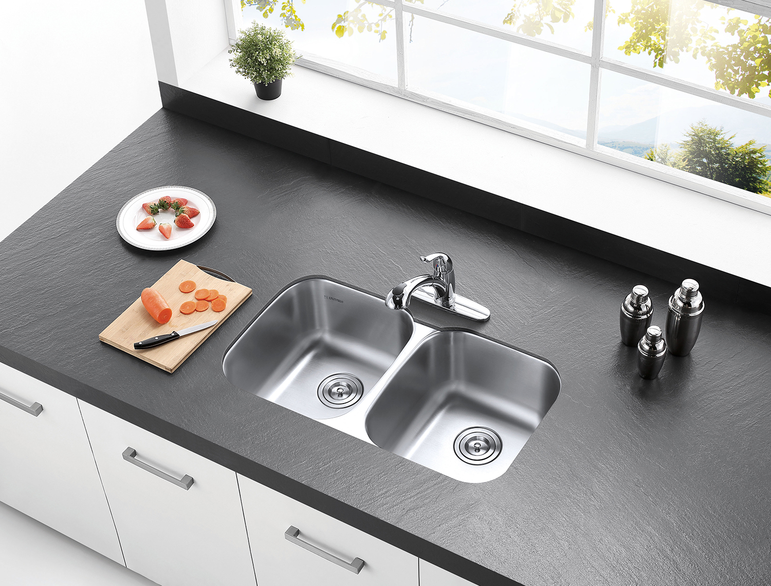 Kitchen Sink Fixtures   The Perfect Kitchen Sink And Faucet Pairing Kingston Brass