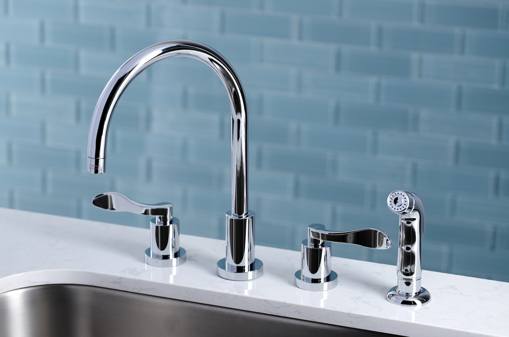 Home Improvement;Kitchen;Kitchen Faucets;Widespread Kitchen Faucet
